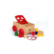 Nic-Carriage with shape sorter, red